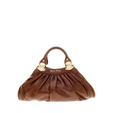 Miu Miu Chain Handle Bag Pleated Leather