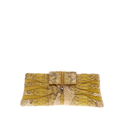 VBH Cut-Out Flap Clutch Python and Suede