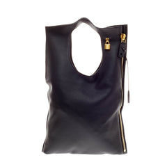 Tom Ford Alix Fold Over Bag Leather Medium