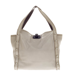 Lanvin Jaisal Studded Tote Leather Medium