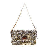 Dolce & Gabbana Miss Charles Flap Bag Sequined with Jeweled Strap