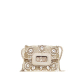 Marchesa Phoebe Clutch Crystal and Beaded Embellished Small