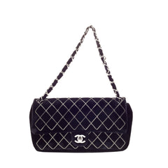 Chanel Chain Stitch CC Flap Velvet