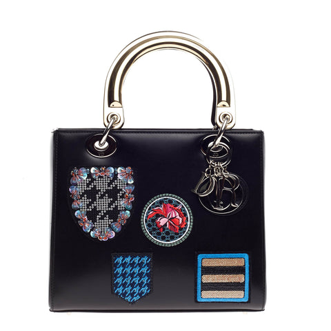 Buy Christian Dior Lady Dior Handbag Patch Embellished 585001 – Rebag e25b032265416
