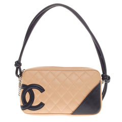 Chanel Cambon Pochette Quilted Leather