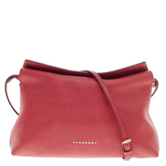 Burberry Leah Crossbody Pebbled Leather Small