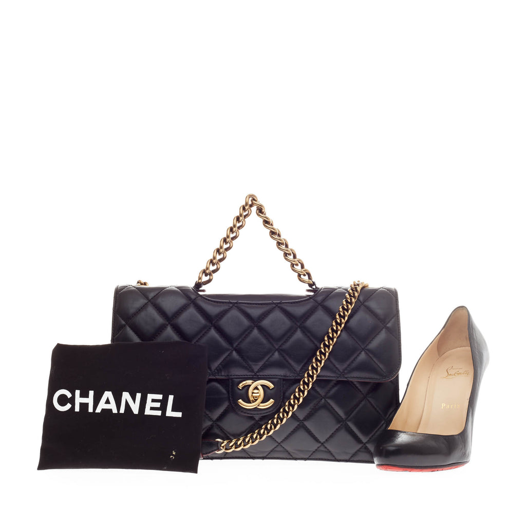 bbfbbcc8ca9a Buy Chanel Perfect Edge Flap Bag Quilted Leather Medium Black 144401 ...