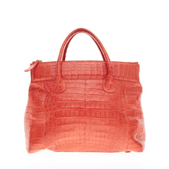 Nancy Gonzalez Double Zip Tote Crocodile
