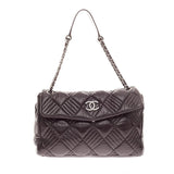 Chanel In and Out Flap Quilted Leather Maxi