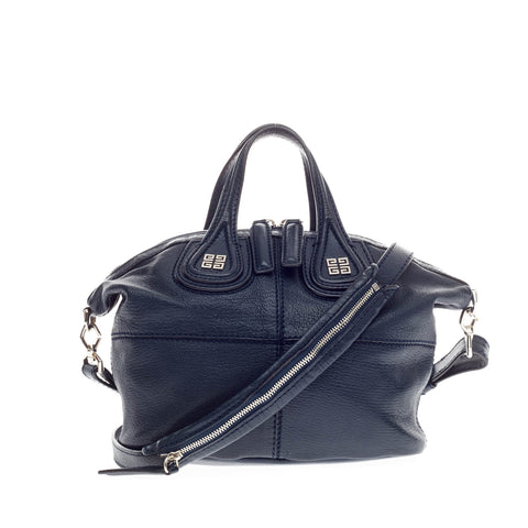 b305bfcf360f Buy Givenchy Nightingale Satchel Leather Micro Blue 161101 – Rebag