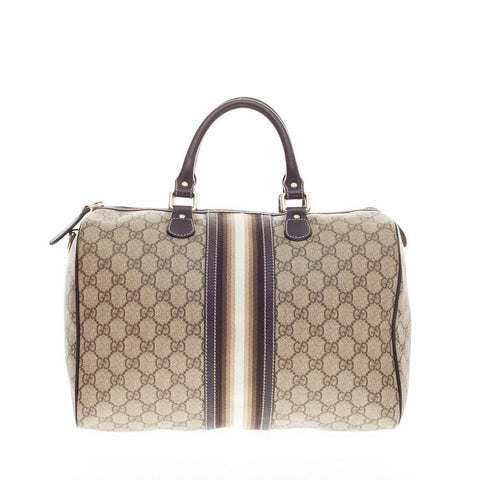 9762b27ad Buy Gucci Joy Boston Bag GG Coated Canvas with Leather Medium 163401 – Rebag