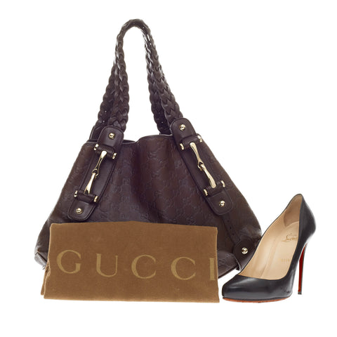 a6904caf918c Buy Gucci Pelham Shoulder Bag Guccissima Leather Medium Black 171301 ...