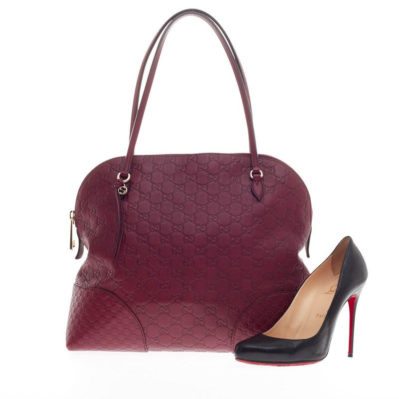f2d9375c176a78 Buy Gucci Bree Dome Tote Guccissima Leather Medium Red 256601 – Rebag