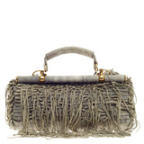 Roberto Cavalli Fringed Doctor Bag Distressed Suede -