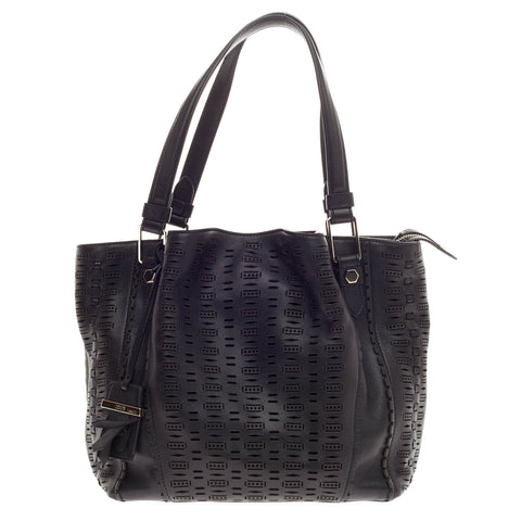 d4d03f37c1d Buy Tod's Flower Bag Perforated Leather Small Black 363701 – Rebag
