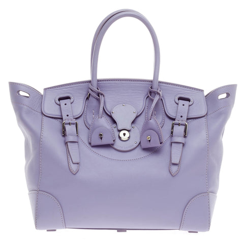 Buy Ralph Lauren Collection Soft Ricky Handbag Leather Purple 364201 – Rebag 79ca9bebbc8ba
