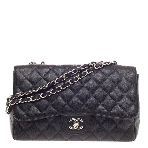 391cb487c36f Buy Chanel Classic Single Flap Bag Caviar Jumbo Black 377601 – Rebag