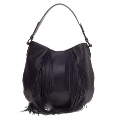 Christian Louboutin Lucky L Fringe Hobo Leather