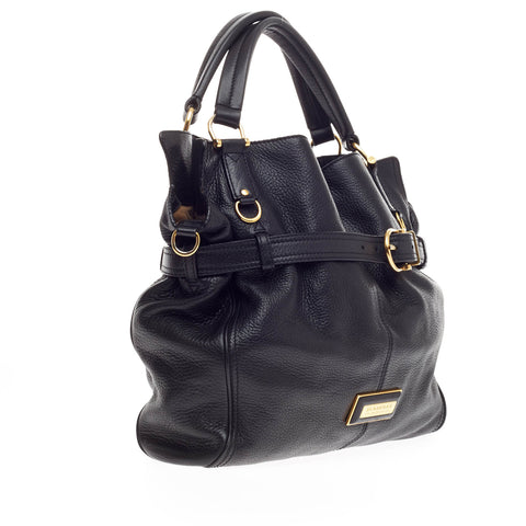 ec27f93fa36f Buy Burberry Convertible Belted Tote Leather Black 249901 – Rebag