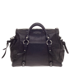 Miu Miu Monk Satchel Nappa Leather Medium