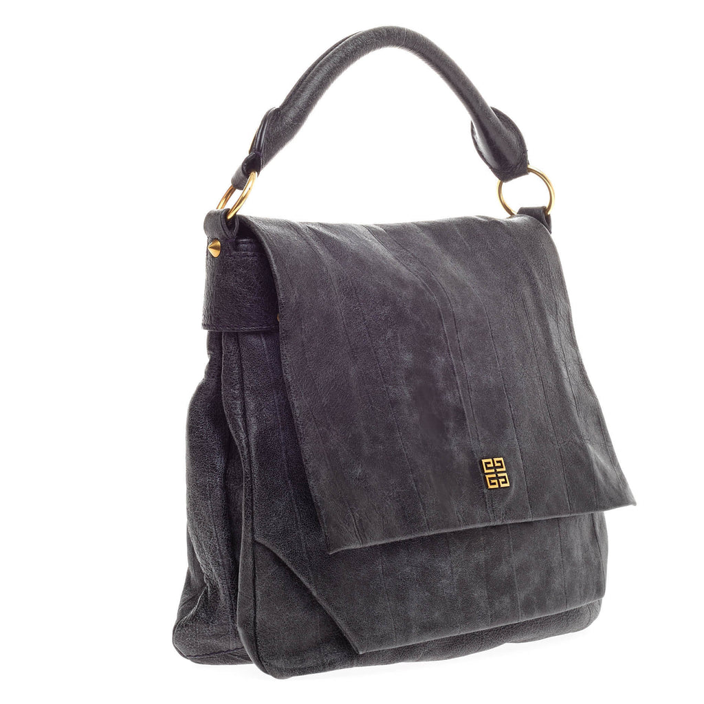 a10095ff7fa3 Buy Givenchy Soha Hobo Distressed Leather Medium Blue 359001 – Rebag