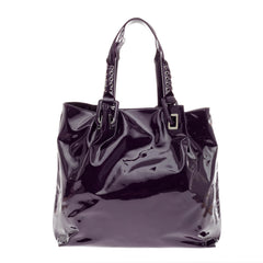 Roger Vivier Braided Shopper Tote Patent Large