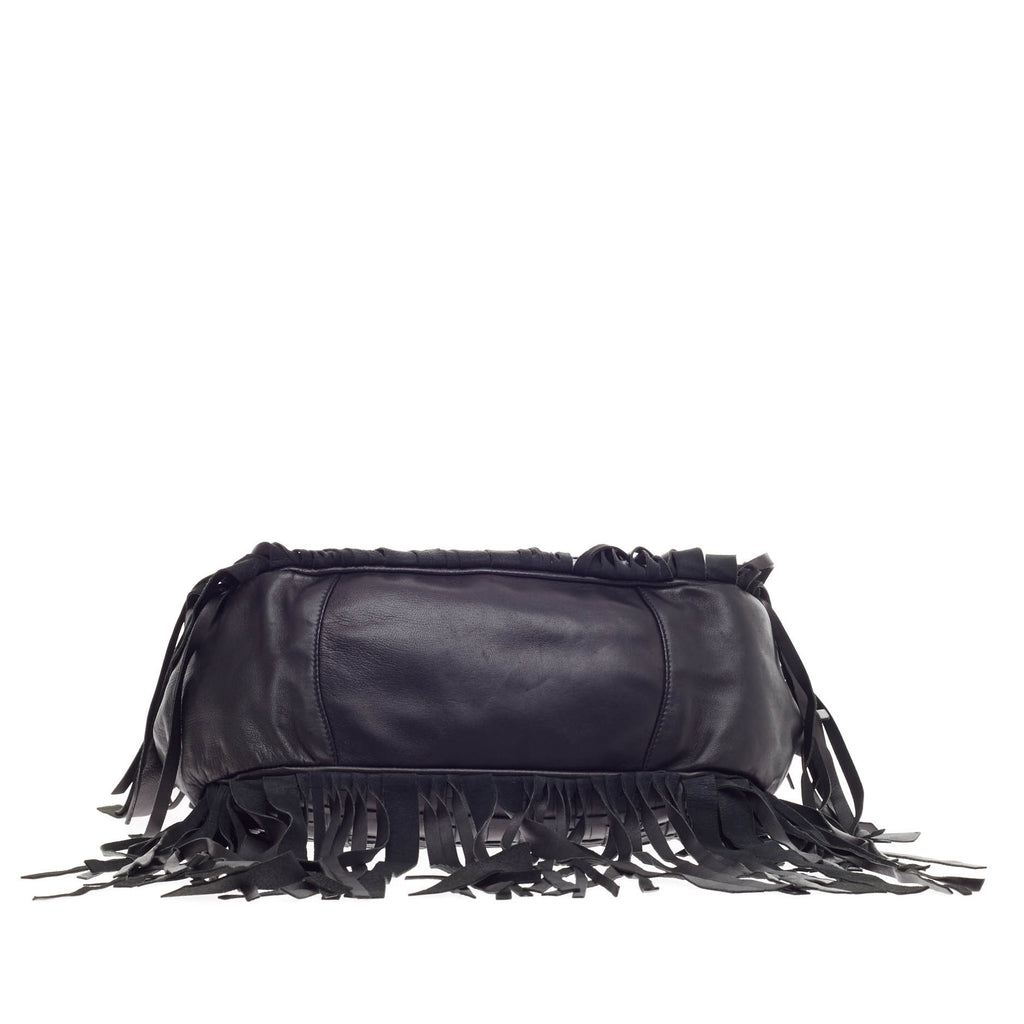 875cca56b69b Buy Prada Convertible Fringe Shoulder Bag Woven Nappa Leather 201301 ...