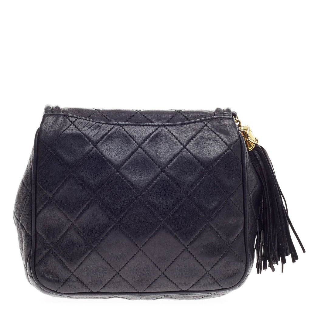 bc0918d890df26 Buy Chanel Vintage Diamond CC Round Flap Bag Quilted Lambskin 414902 ...