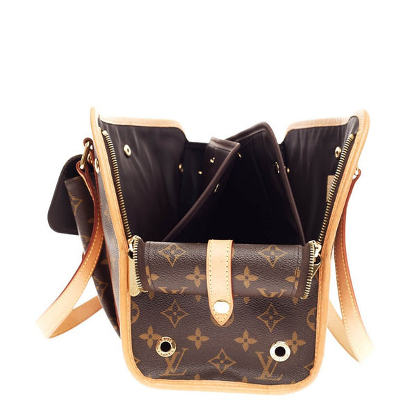 Bolsa De Transporte Para Cães Louis Vuitton : Buy louis vuitton baxter dog carrier monogram canvas pm