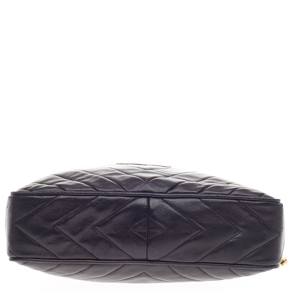 f2f612a17e3556 Buy Chanel Vintage Chevron Camera Bag Quilted Leather Small 384403 ...