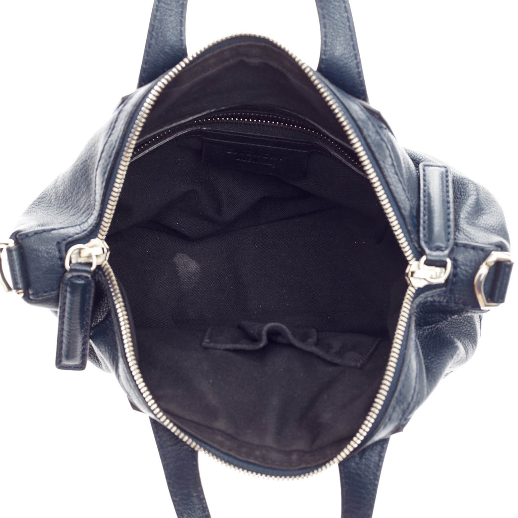 fed58a1b77b24 Buy Givenchy Nightingale Satchel Leather Micro Blue 161101 – Rebag