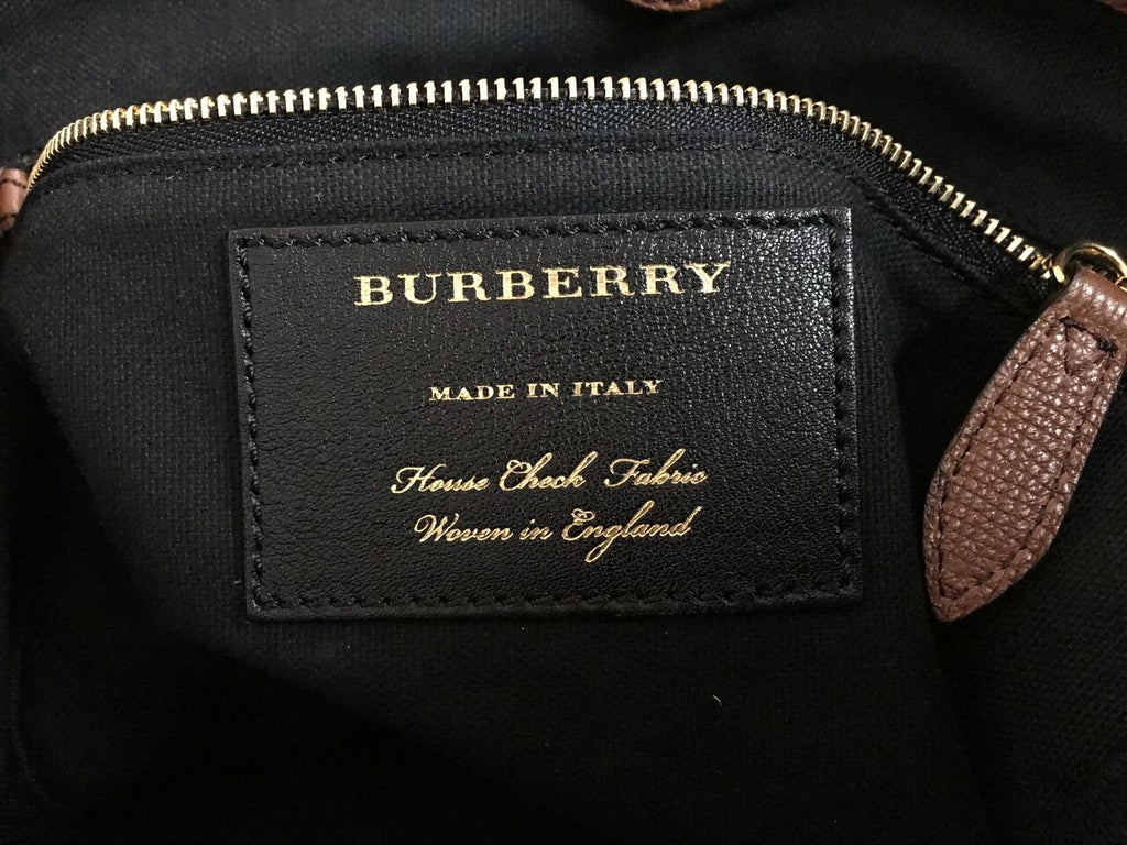 7613199751ca Buy Burberry Canterbury Tote Leather and House Check Canvas 577102 ...