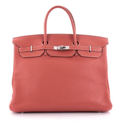 Hermes Birkin Handbag Red Clemence with Palladium Red 2091701