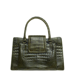 Nancy Gonzalez Top Flap Tote Crocodile Medium