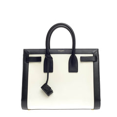 Saint Laurent Bicolor Sac De Jour Leather Small