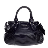 Miu Miu Convertible Bow Satchel Vitello Lux Small