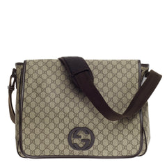 Gucci Interlocking G Messenger GG Coated Canvas Large