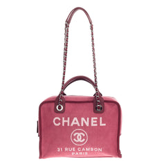 Chanel Deauville Bowling Bag Canvas