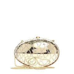 Judith Leiber Egg Minaudiere Embellished Metal Small