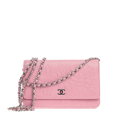 Wallet on Chain Camellia Lambskin
