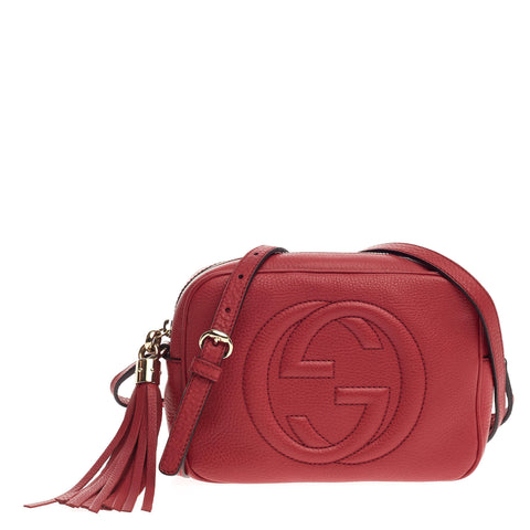 abb4e7b1ab47ea Buy Gucci Soho Disco Crossbody Leather Small Red 687102 – Rebag