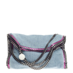 Stella McCartney Falabella Fold Over Denim