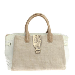 Nancy Gonzalez Cristina Tote Canvas and Exotics Medium