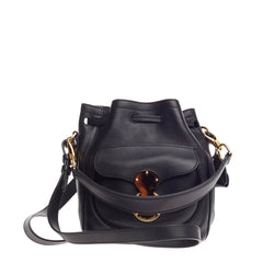 Ralph Lauren Collection Ricky Drawstring Bag Leather Small