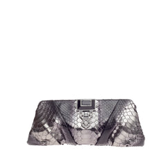 Judith Leiber Jeweled Art Deco Clutch Python