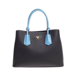 Prada Cuir Double Tote Saffiano Leather and Crocodile Small