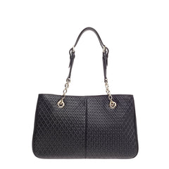 Tod's Signature Chain Strap Tote Embossed Leather Medium
