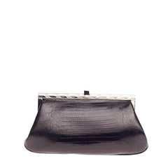 Ralph Lauren Collection Frame Clutch Lizard Small