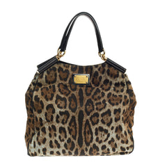 Dolce & Gabbana Miss Sicily Tote Printed Canvas Large
