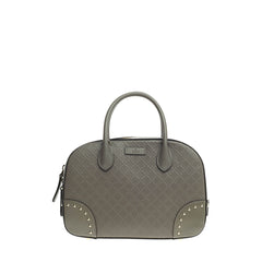 Gucci Bright Convertible Top Handle Studded Diamante Leather Small